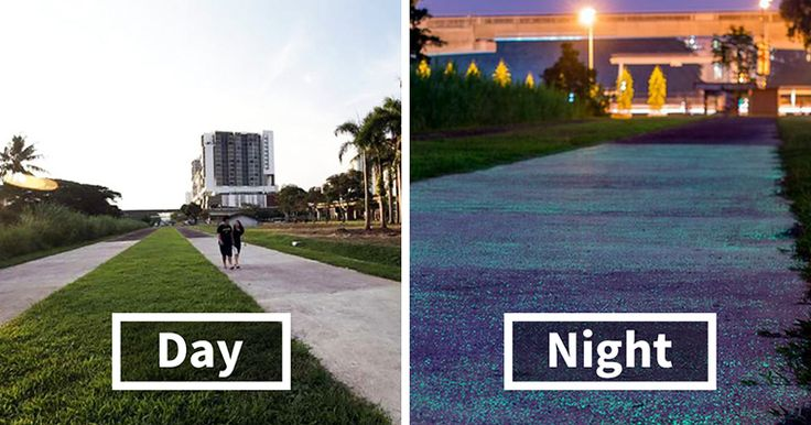 Singapore Is Testing Glow-In-The Dark Paths, And It's A Really Bright Idea