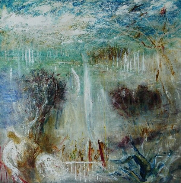 'The Regatta.' from the Artist's Balcony Looking out on Wangi Lake by Sir William Dobell 1970