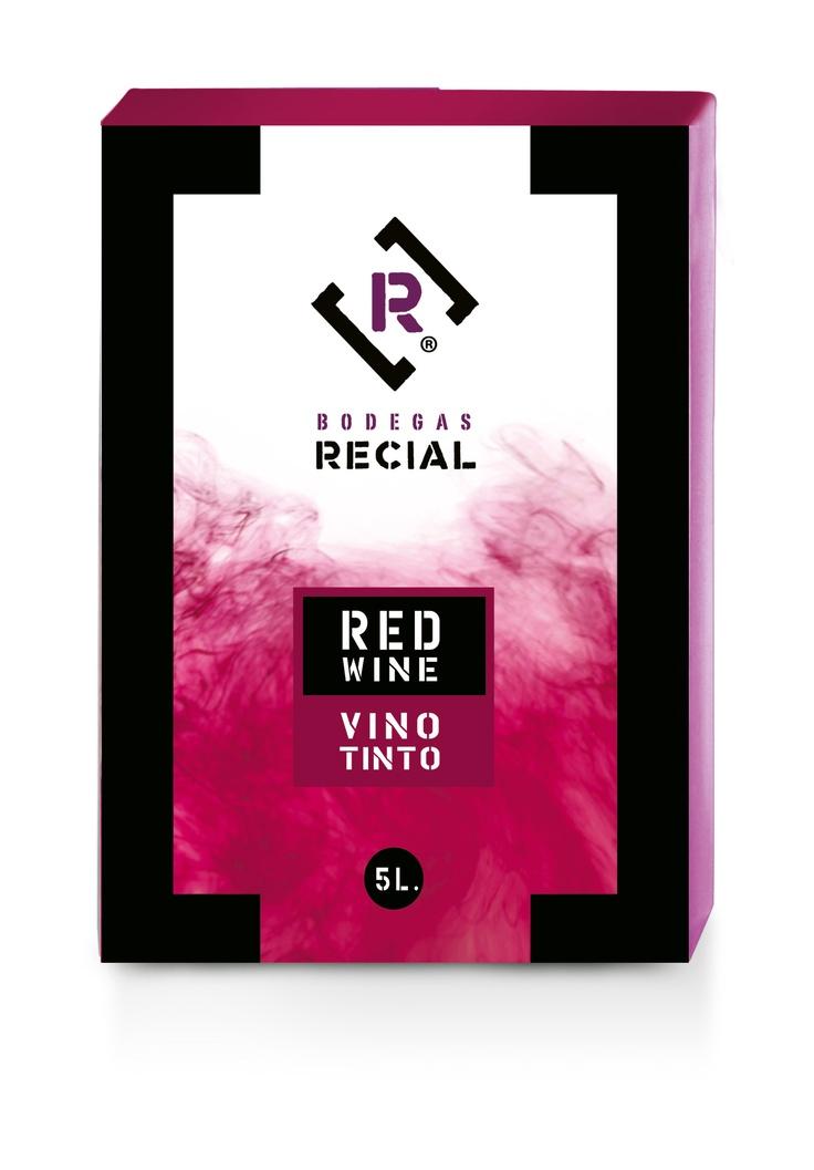 Bag in Box Vino Tinto.  Bodegas Recial.