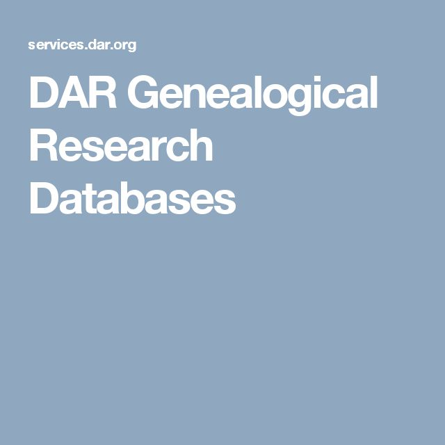 DAR Genealogical Research Databases