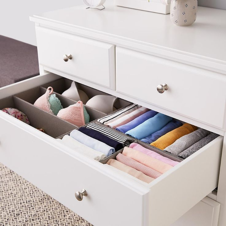 Grey Drawer Organizers With Images Organize Drawers Drawer Organizers