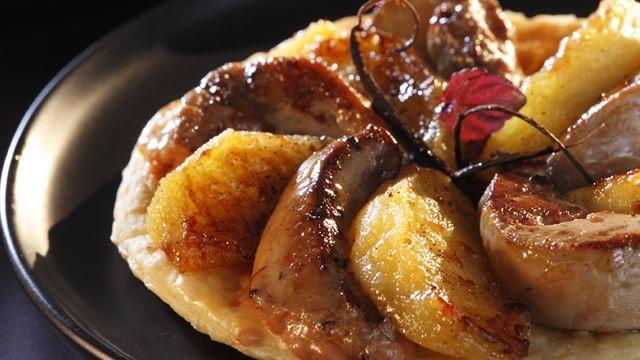 Tartelettes au foie gras aux pommes et vanille
