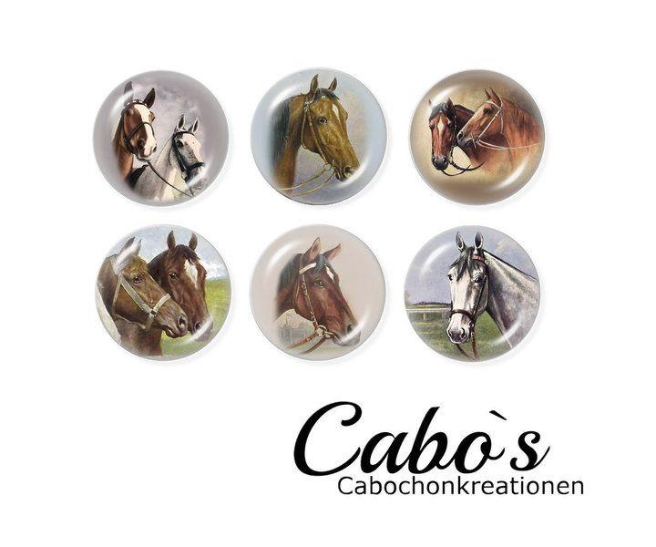 C1399-25 Cabochon Set  6x25mm round w Cabo`s - Kaboszony tworzenie na DaWanda.com