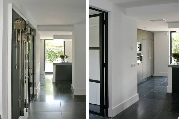 Zicht op de keuken en tuin.: industriële Keuken door Doreth Eijkens | Interieur Architectuur