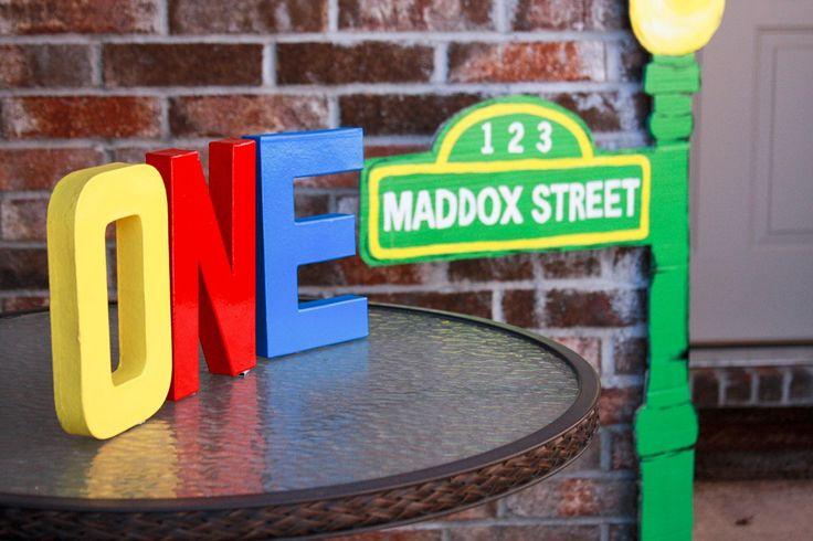 Sesame Street First Birthday Decorations