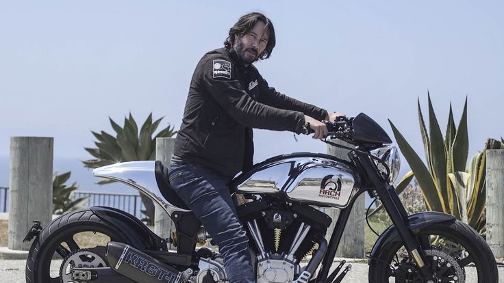 Tearing up L.A. on the Arch Motorcycles KRGT-1. Keanu Reeves Will Build a $78,000 Motorcycle Just for You