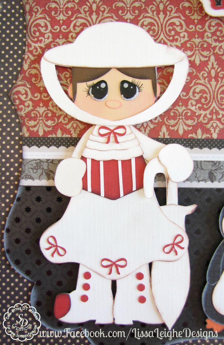 Scrapbook paper art ideas - Www Facebook Com Lissaleighedesigns Scrappydew Paper Piecings Disney Layout Mary Poppins Scrapbooking Paper