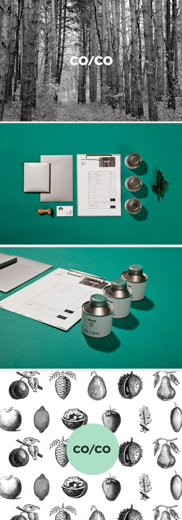 CO/CO Organic Cosmetics branding by Tatabi Studio