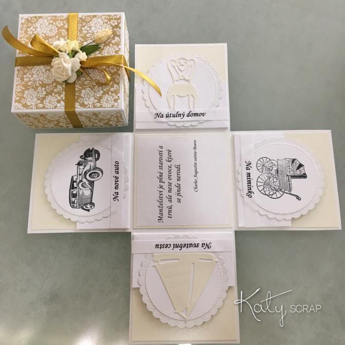 Fler BLOG   Katy scrap / Nové svatební krabičky 2016 II.
