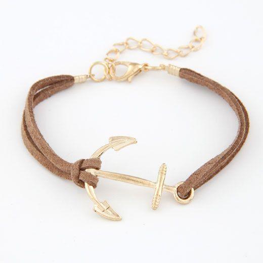 Anker Armbanden voor Vrouwen Mannen Sieraden Bijoux 2017 Fashion Touw 8 Leather Charm Armbanden & Bangles Vintage Wrap Pulsera Mujer