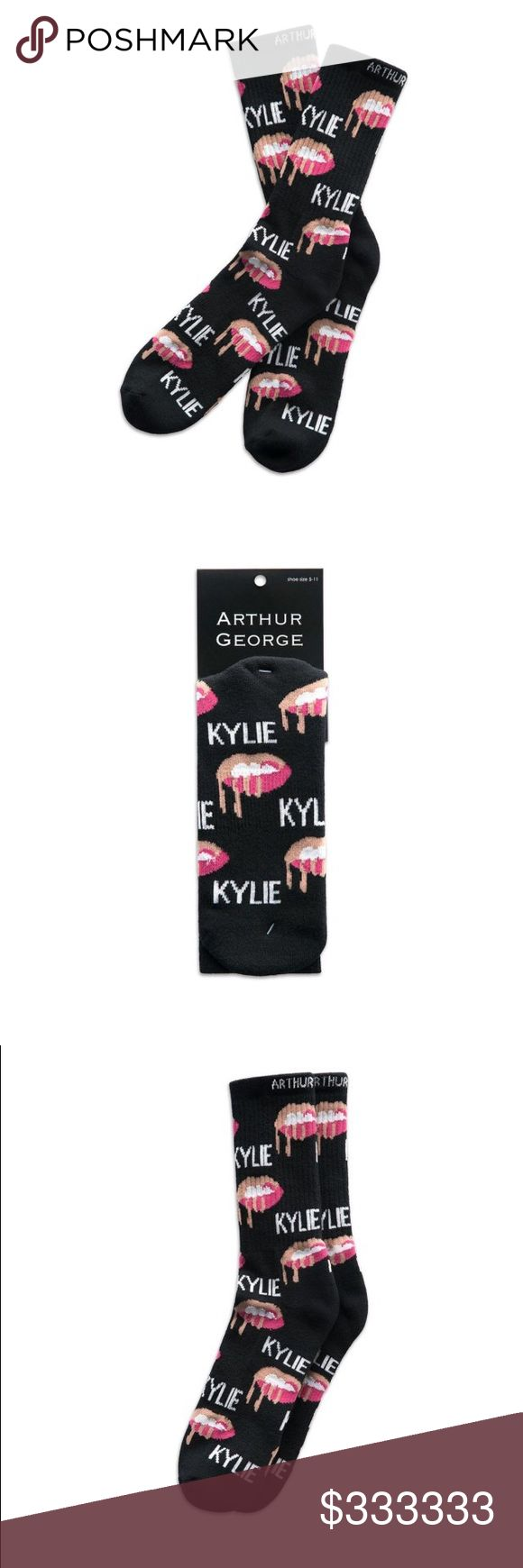 The Kylie Shop Socks! In hand, ready to ship!! Socks are made by Arthur George by Robert Kardashian and I have several other pairs of his socks and they are beyond comfy and are great quality socks!!!  NWT.  In hand and ready to ship today! Kylie Cosmetics Makeup
