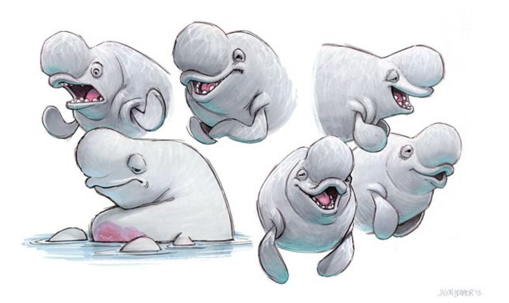 Finding Dory character designs by Jason Deamer