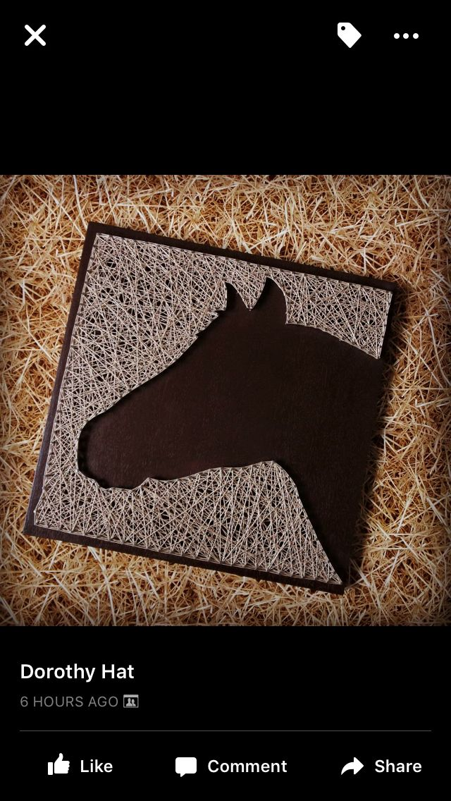 Horse face - String Article  Nail & String Art Ideas  Pinterest