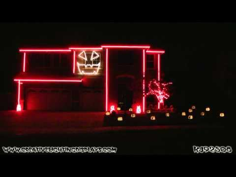 halloween light show how to