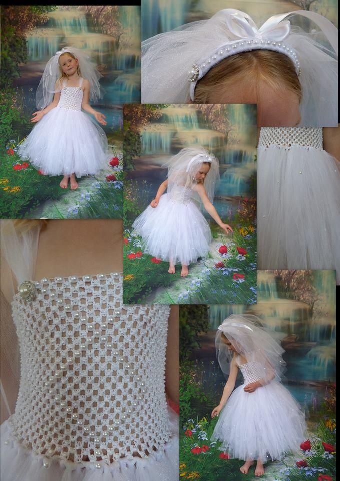 Beautiful flower girl dress custom orders available find me on facebook  Arlie Girl