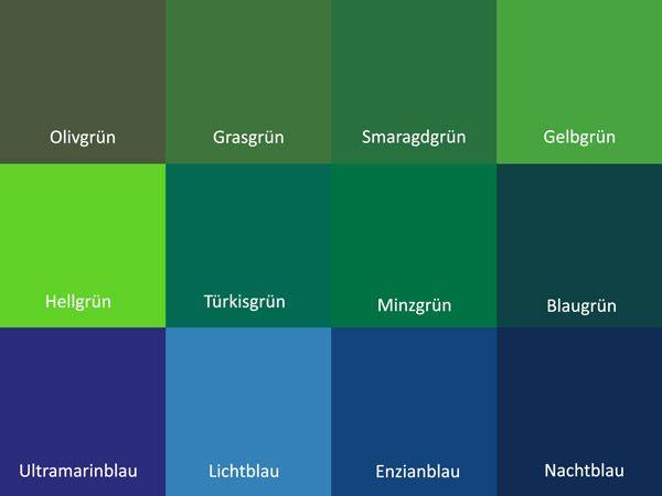 Grün Und Blau Kombinieren So Klappts Farben Grün