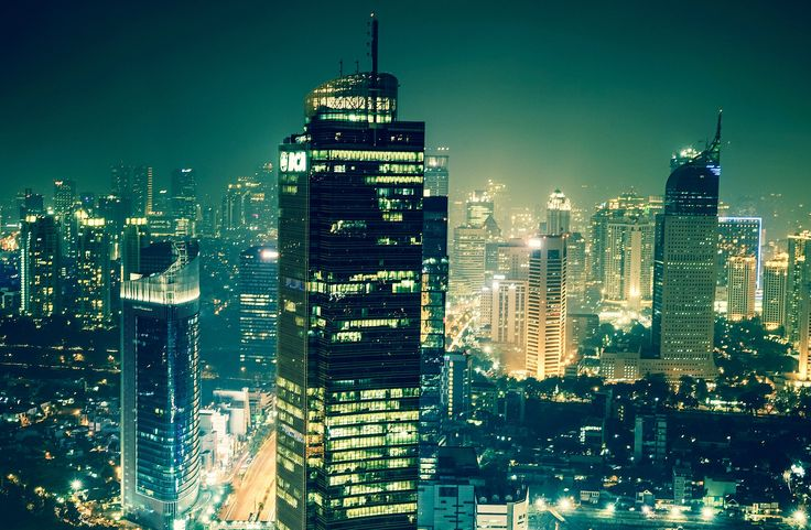 Jakarta metropolis | Jakarta night skyline, Indonesia