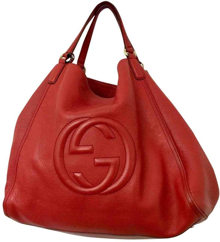 Gucci Hobo Red Leather Handbag Vegan Purse Handbags Gucci Hobo Bag Red Leather Handbags