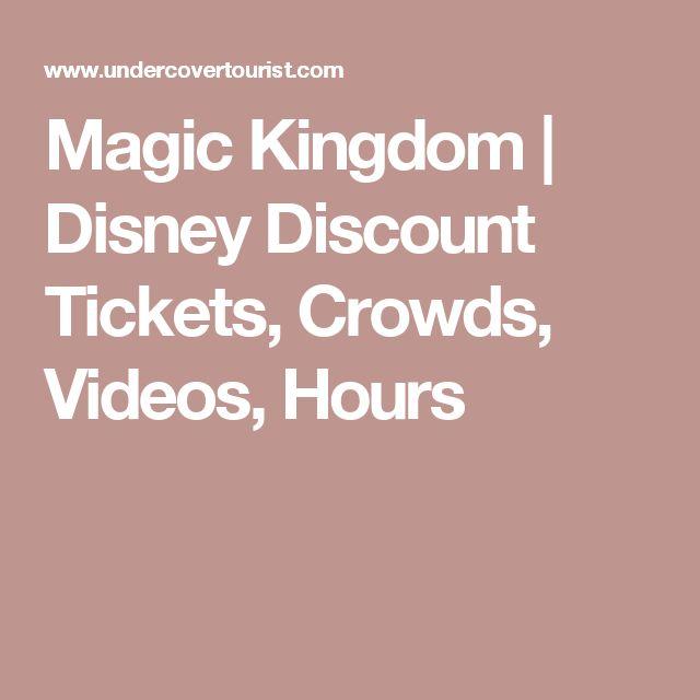 Magic Kingdom | Disney Discount Tickets, Crowds, Videos, Hours