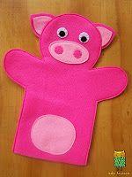 Títere de mano de cerdo