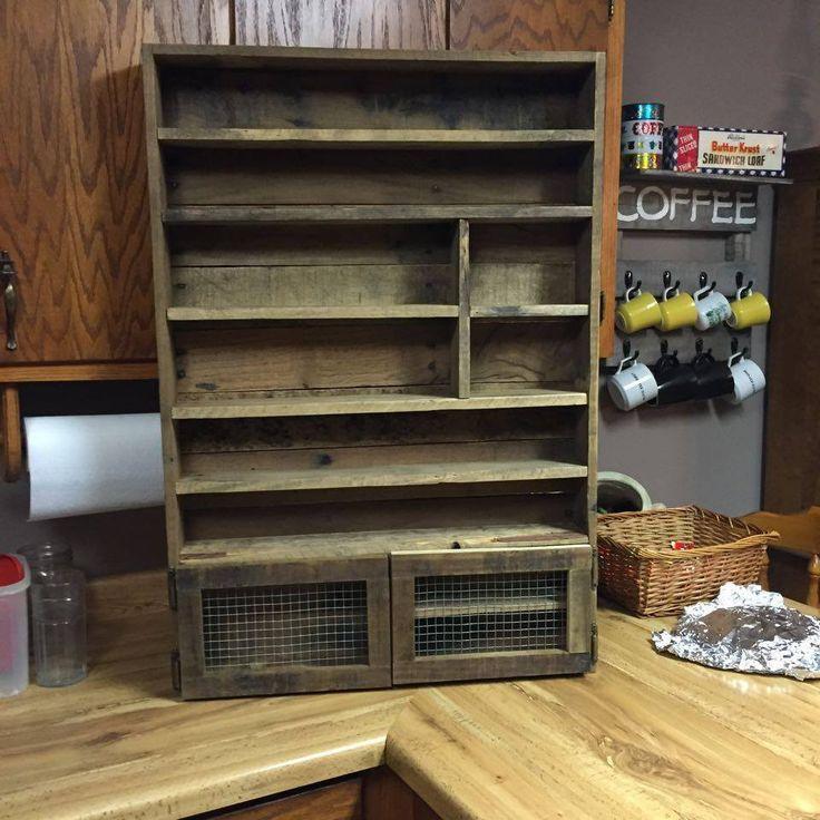 Essential Oils Storage Shelf with Cabinet