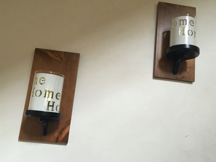 Two of wood wall sconces with some changes