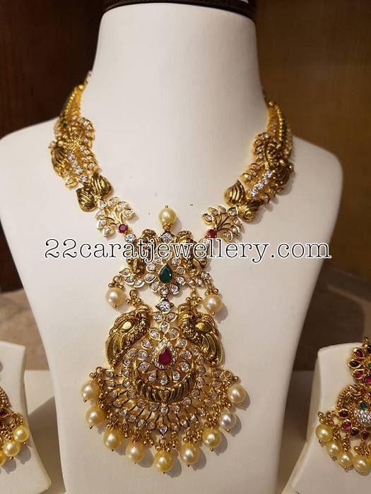 Black Finish CZ Necklace - Jewellery Designs
