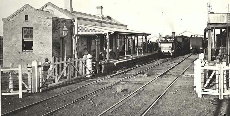 Maitland Railway Station in 1877.