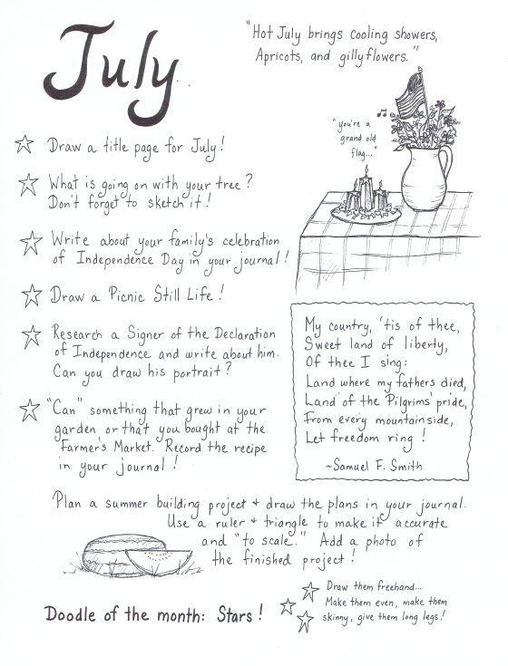 July Art Journaling Ideas… http://thistledewblog.com/2013/07/02/july-art-journaling-ideas/