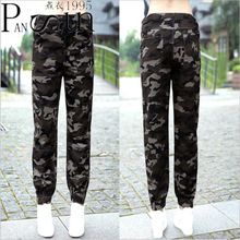 New Women Military Clothing 2017 Slim Female Camouflage Pants Summer And Autumn Korean Students Style Pencil Pants(China (Mainland))