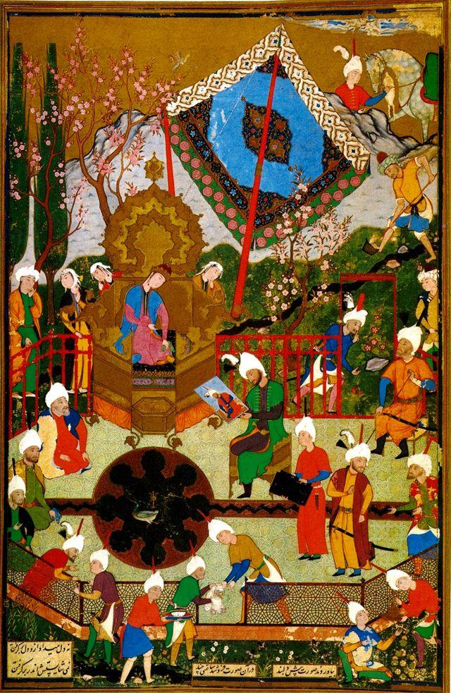 Nushaba Shows Alexander His Own Portrait by Abd al-Samad,1539-43