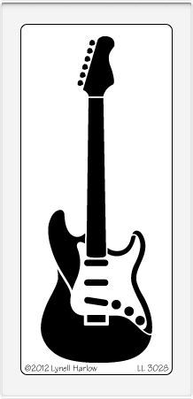 Dreamweaver Large Brass Stencil - Electric Guitar,$7.50