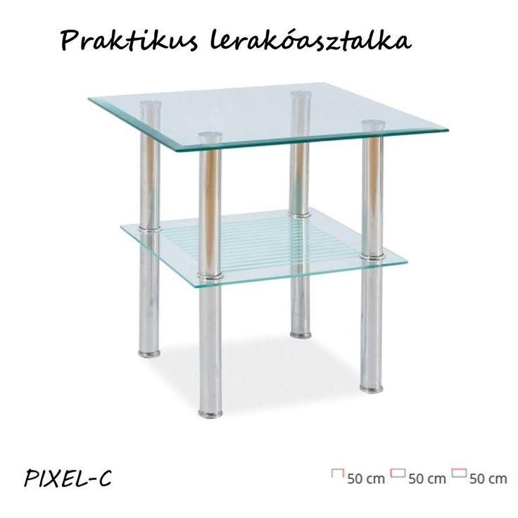 😜 Mi bolondulunk ezért a víztiszta, kedvező árú lerakóasztalért. Neked tetszik? Üveg asztallap, króm lábak, elegancia, és praktikum.