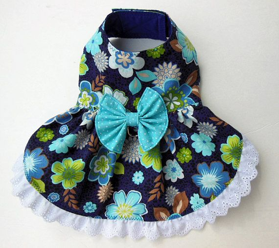 Floral HarnessDress for Small Dog. by JinsK9Kreations on Etsy, $35.00