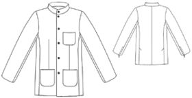 """Free pattern for a """"Military-style"""" jacket."""