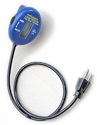 """""""AmWatt"""" Accurately Reads Amps Or Watts Of Common Cord-Connected Household Appliances And Lights. Accurate Digital Readout From 0 - 15.0 Amps and 0 - 1875 Watts. Easy Slide Switch Instantly Converts Between Amps And Watts. The Digital Readout Displays The Selected AMPS or WATTS Value. Find it here http://www.electricalbasics.com/electrical-testers/amwatt-appliance-amperage-wattage-load-tester"""