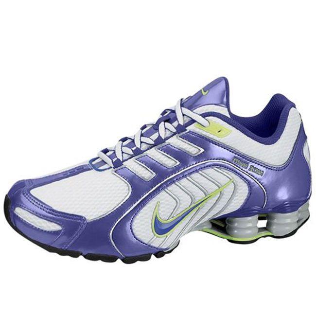 8a7e0240a9f812 ... Nike Shox Navina Womens Size Shoes White Purple Running Sneakers 356918  105 ...