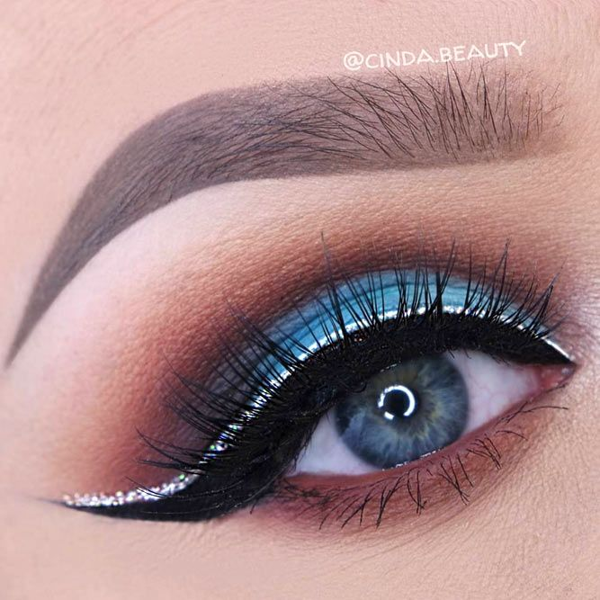 Turquoise Shades Eye Makeup picture 1