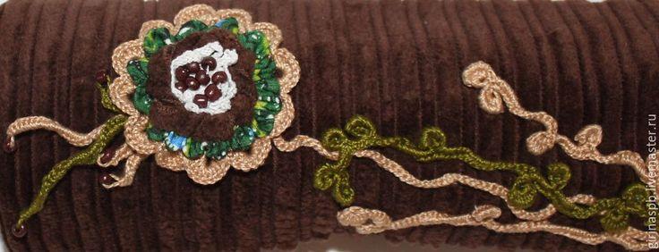 Купить Пенал рулон текстильный - коричневый, шоколадный, зеленый, пенал, пенал для карандашей, пенал для ручек
