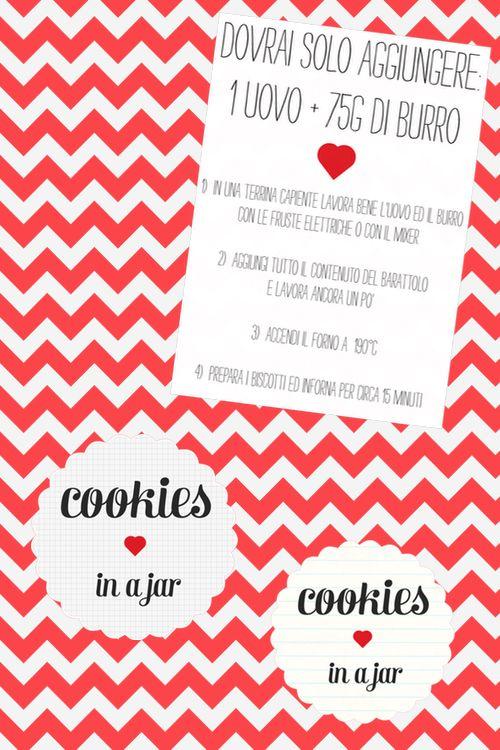 :: anemone's corner ::: Cookies in a jar: preparato per biscotti in barattolo + free printables per voi
