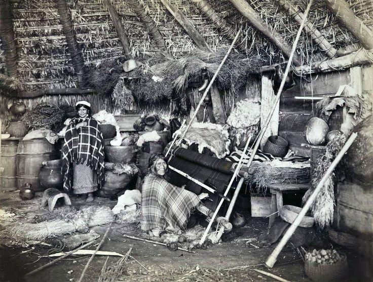 Ruca mapuche, provincia de Cautín, año 1890.