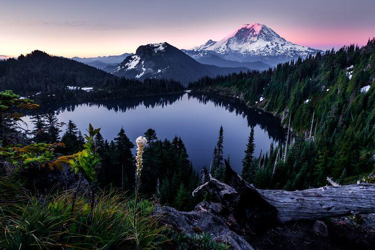 Gorgeous sunrise at Mt. Rainier this weekend