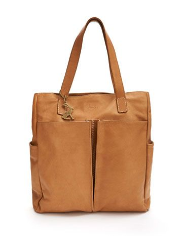 Joules RICHMOND Womens Leather Bag, Tan.