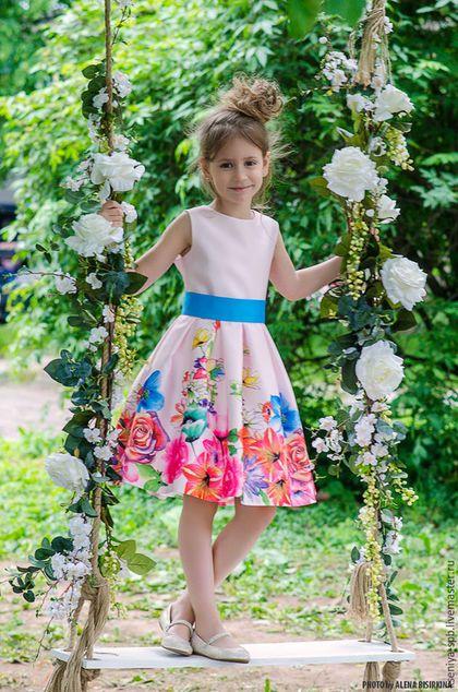 """Dress for girl / Одежда для девочек, ручной работы. Нарядное платье для девочки """"Лилия"""" (66). """"Рюши Ксюши"""". Интернет-магазин Ярмарка Мастеров."""