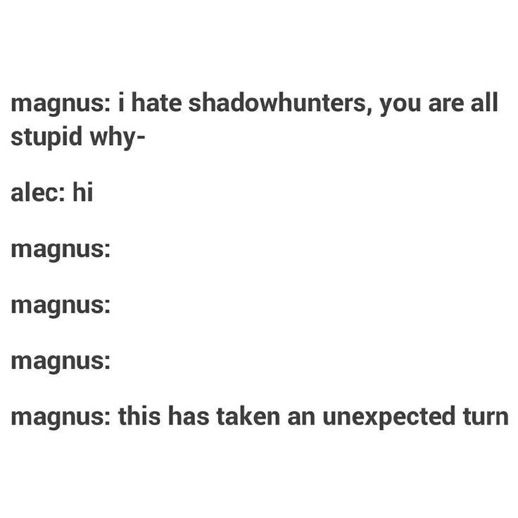 Magnus Bane // The Mortal Instruments // TMI // Alec Lightwood // Malec Textpost // #Malec