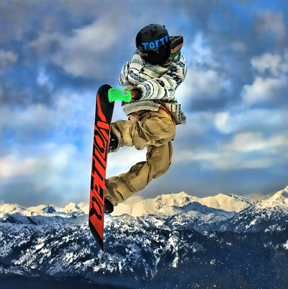It may not be winter anymore, but Redbull still know how to Snowboard