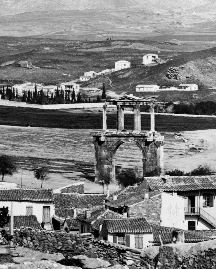 TRAVEL'IN GREECE | Hadrian's Arch, 1870, Athens, #Attica, #Greece, #travelingreece