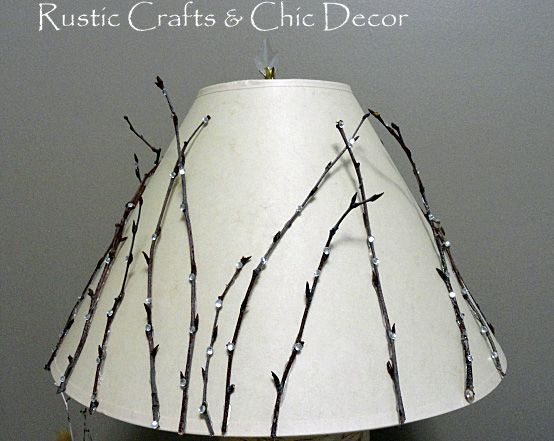 DIY Lamp Shades In A Rustic Chic Style