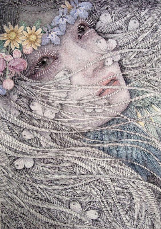 "Atsuko Goto for ""Nightmare in Wonderland"" Group Show at Distinction Gallery | Hi-Fructose Magazine"