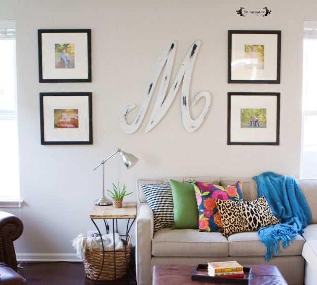 Neutral Family Room with Bold Pops of Color | Five Marigolds